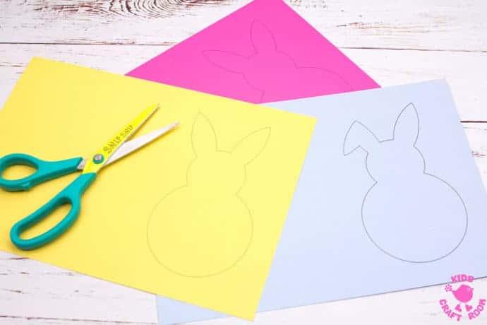 Yarn Wrapped Bunny Craft step 1