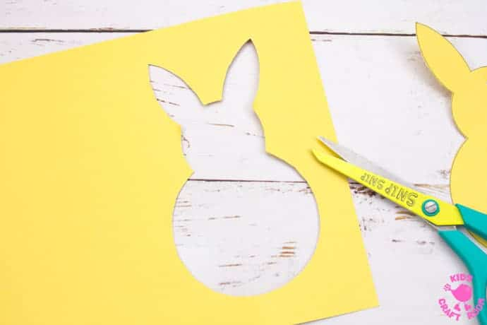 Yarn Wrapped Bunny Craft step 2