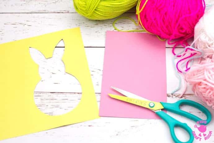 Yarn Wrapped Bunny Craft step 3