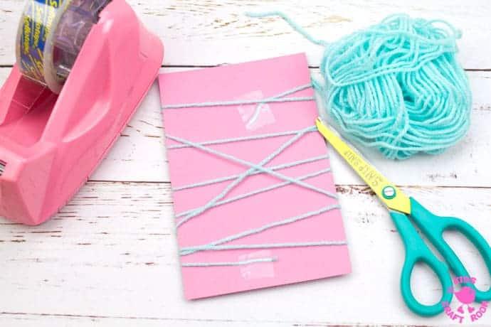 Yarn Wrapped Bunny Craft step 4