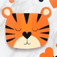 Cute Tiger Handmade Valentine Card With Template