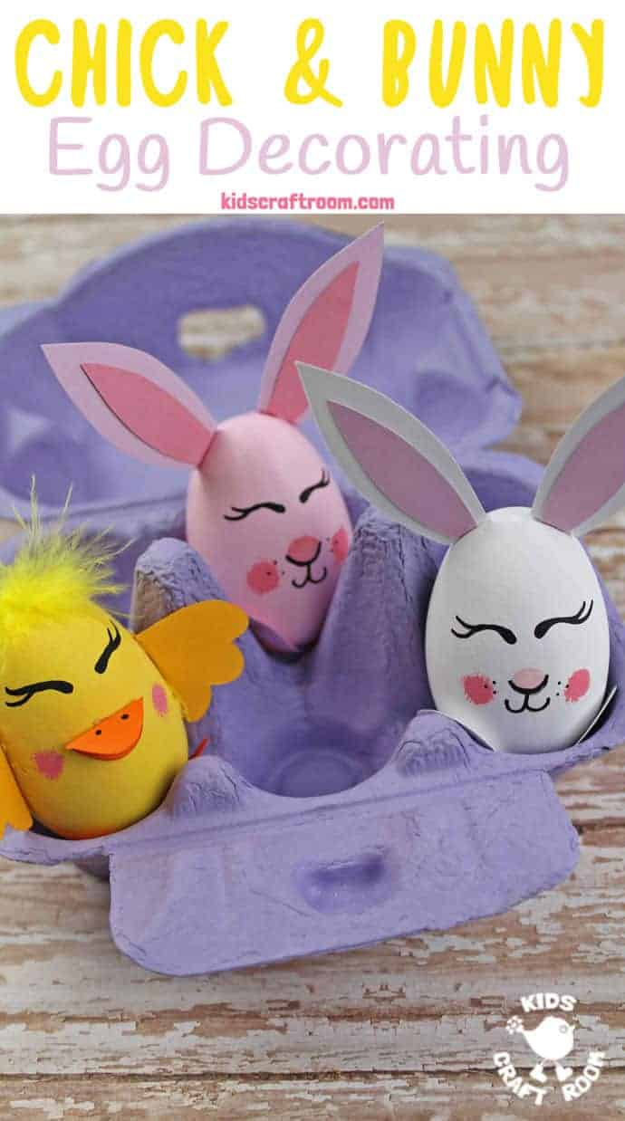 Bunny and Chick Egg Decorating Ideas - Kids Craft Room
