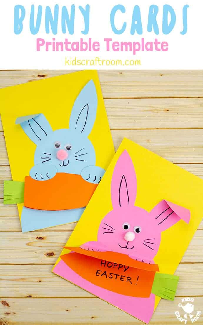 Carrot Nibbling Easter Bunny Cards pin 5