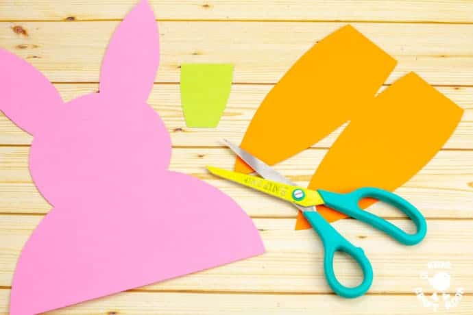 Carrot Nibbling Easter Bunny Cards step 1