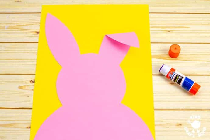 Carrot Nibbling Easter Bunny Cards step 2