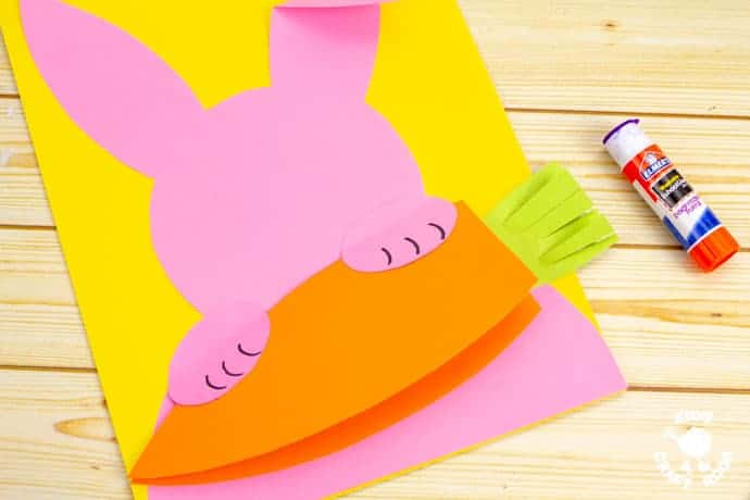 Carrot Nibbling Easter Bunny Cards step 4
