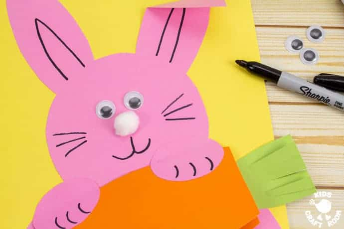 Carrot Nibbling Easter Bunny Cards step 5