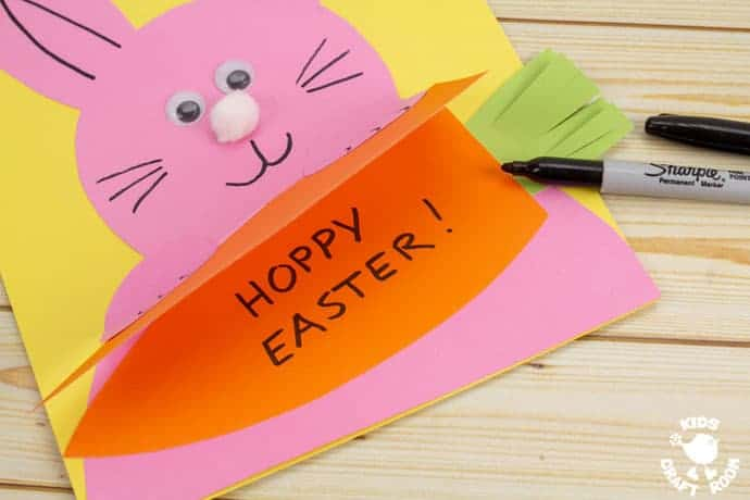 Carrot Nibbling Easter Bunny Cards step 6