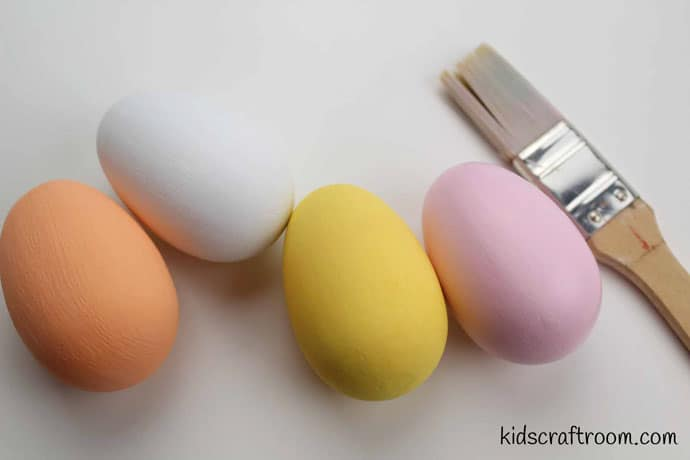 Bunny and chick egg decorating ideas- step 1