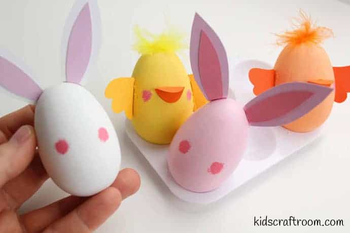 Bunny and chick egg decorating ideas- step 6