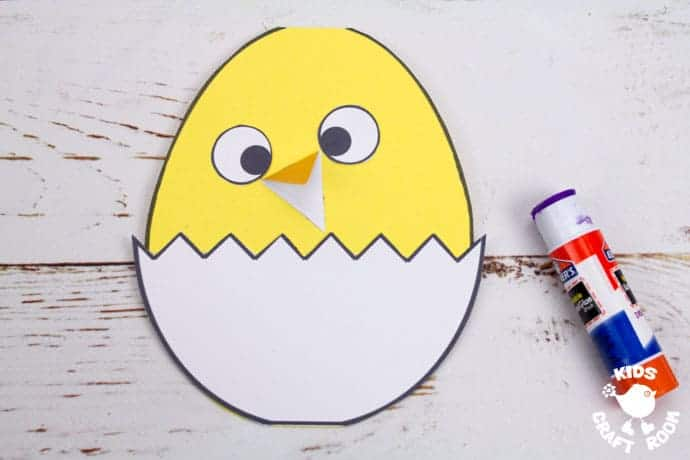 Hatching Chick Card step 4