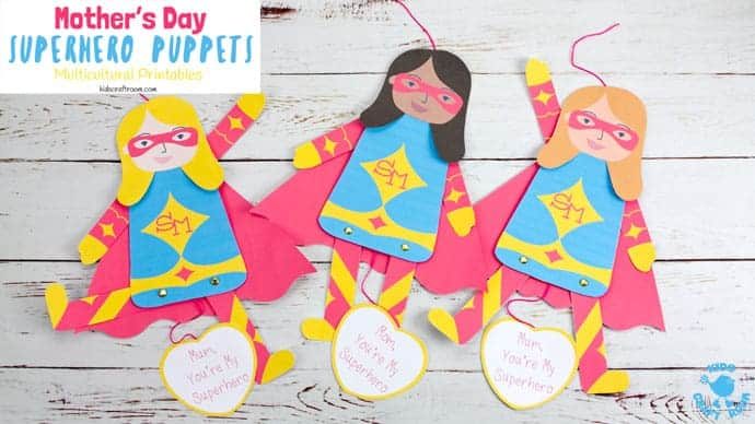 Mother S Day Superhero Puppet Craft Kids Craft Room