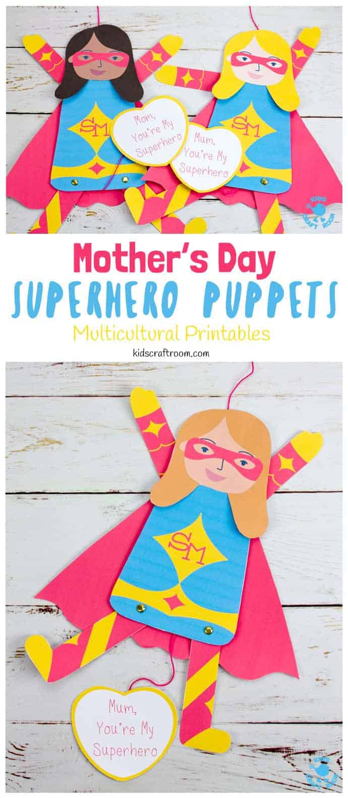 Mother S Day Superhero Puppet Craft Kids Craft Room