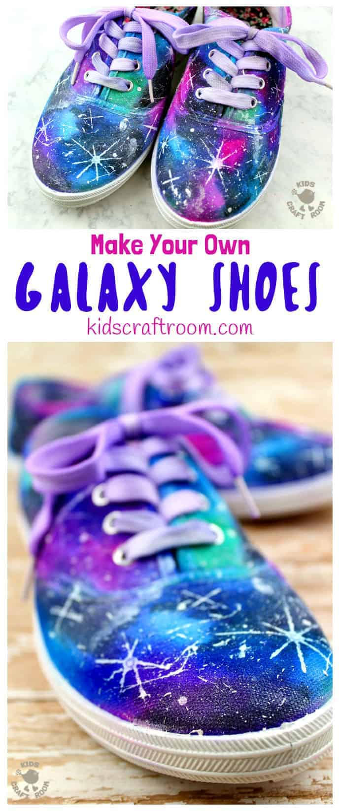 DIY Galaxy Shoes Kids Craft Room