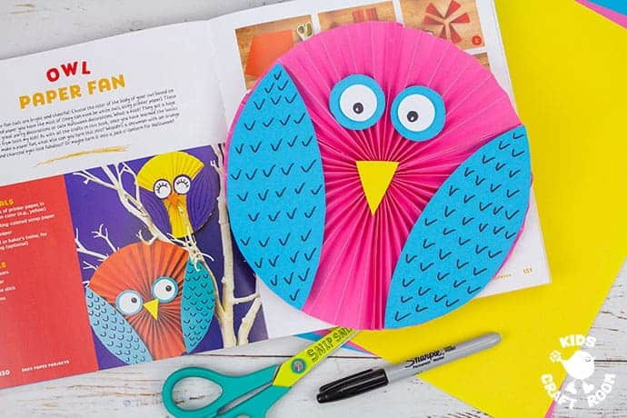 Easy Paper Owl Craft with book