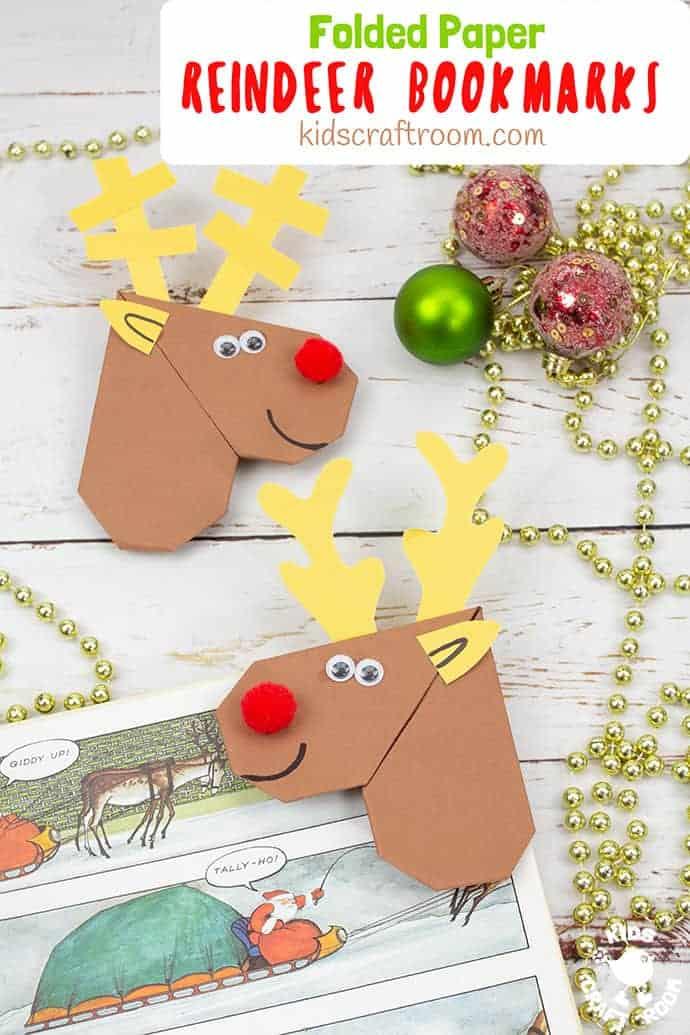 Finished Origami Reindeer Corner Bookmarks