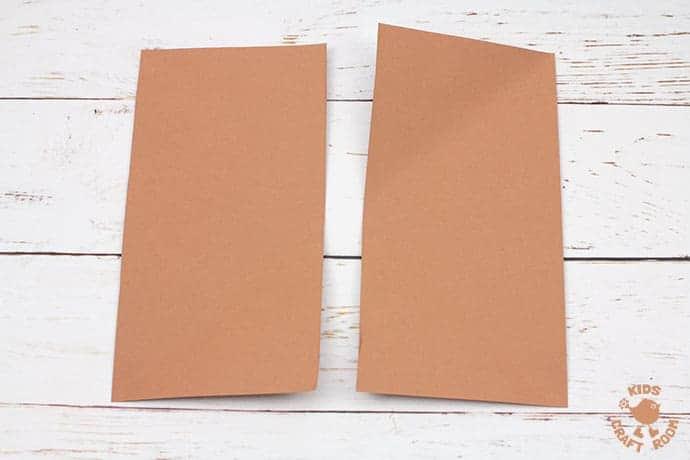 Easy Origami Reindeer Corner Bookmarks step 1