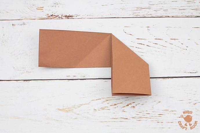 Easy Origami Reindeer Corner Bookmarks step 4