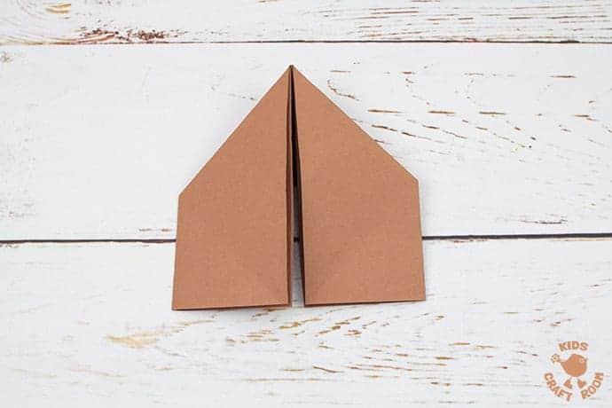 Easy Origami Reindeer Corner Bookmarks step 5