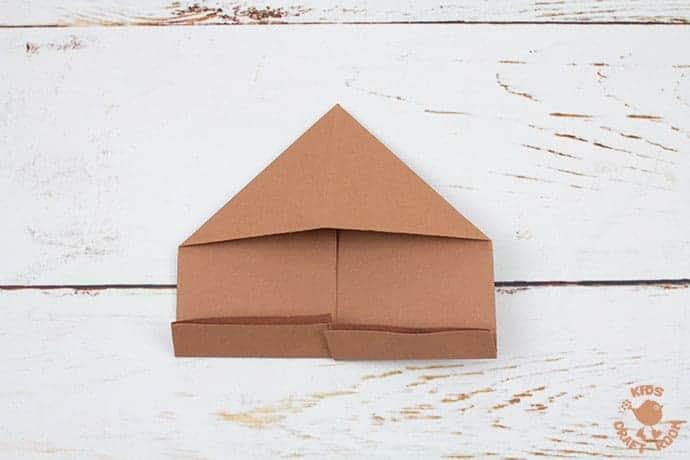 Easy Origami Reindeer Corner Bookmarks step 6