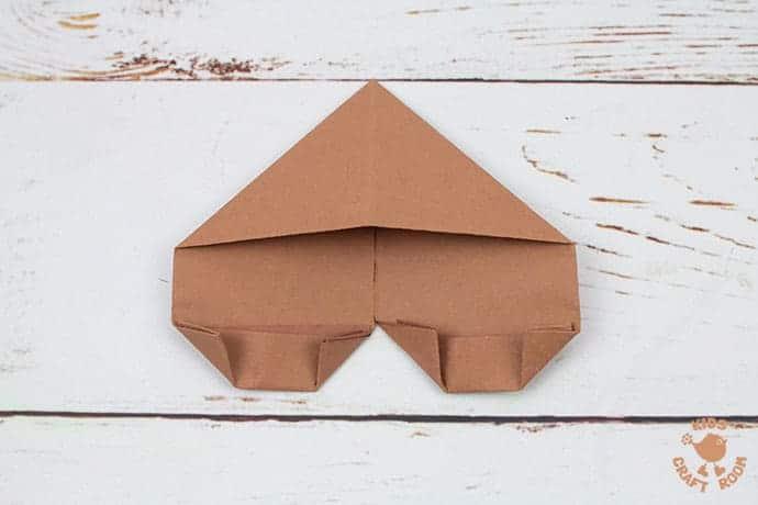 Easy Origami Reindeer Corner Bookmarks step 7