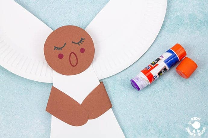 Paper Plate Angel Craft For Kids step 6