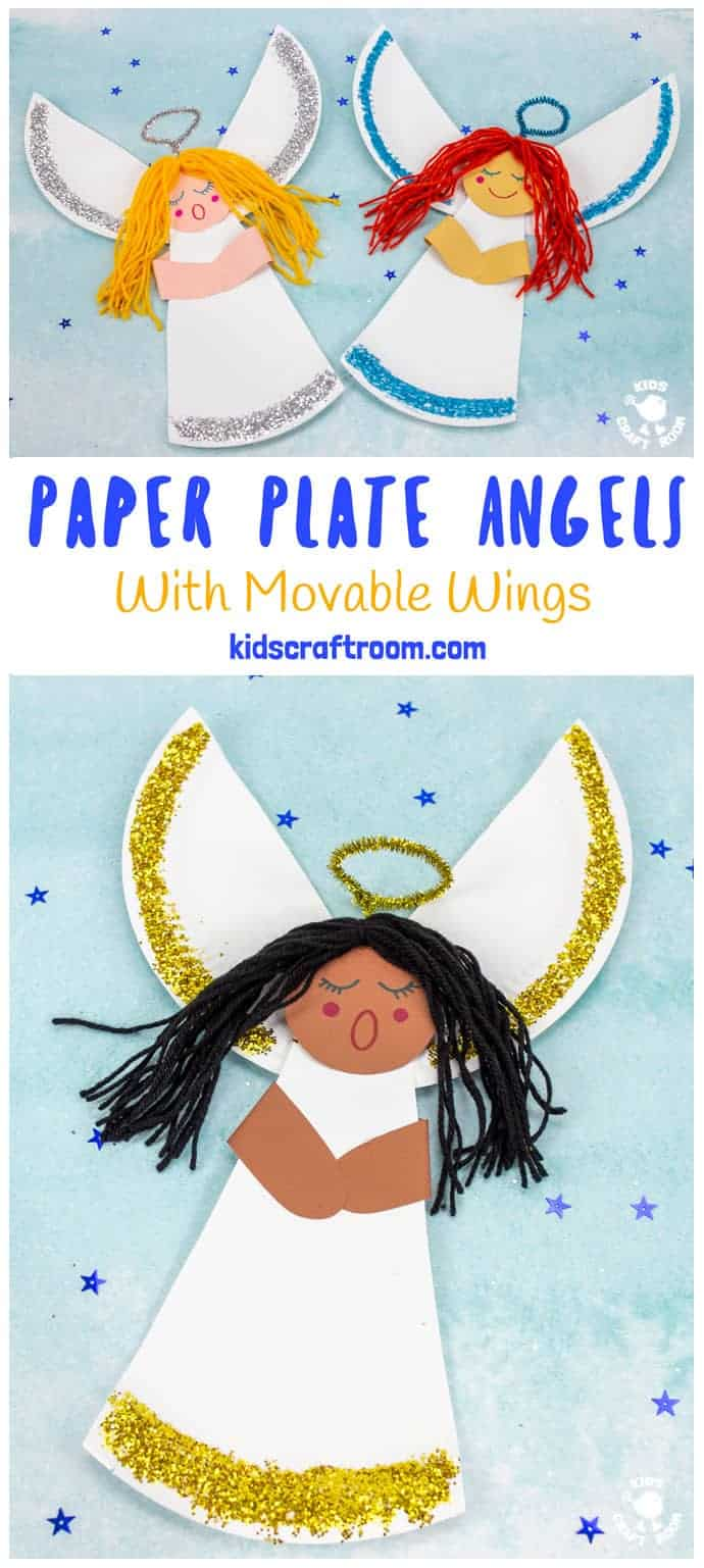 Paper Plate Angel Craft For Kids pin image