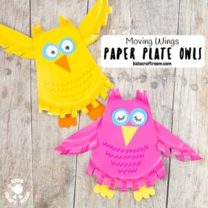 Flying Paper Plate Owl Craft