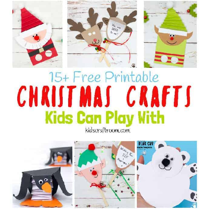 Free Printable Christmas.Free Printable Christmas Crafts For Kids To Play With Kids