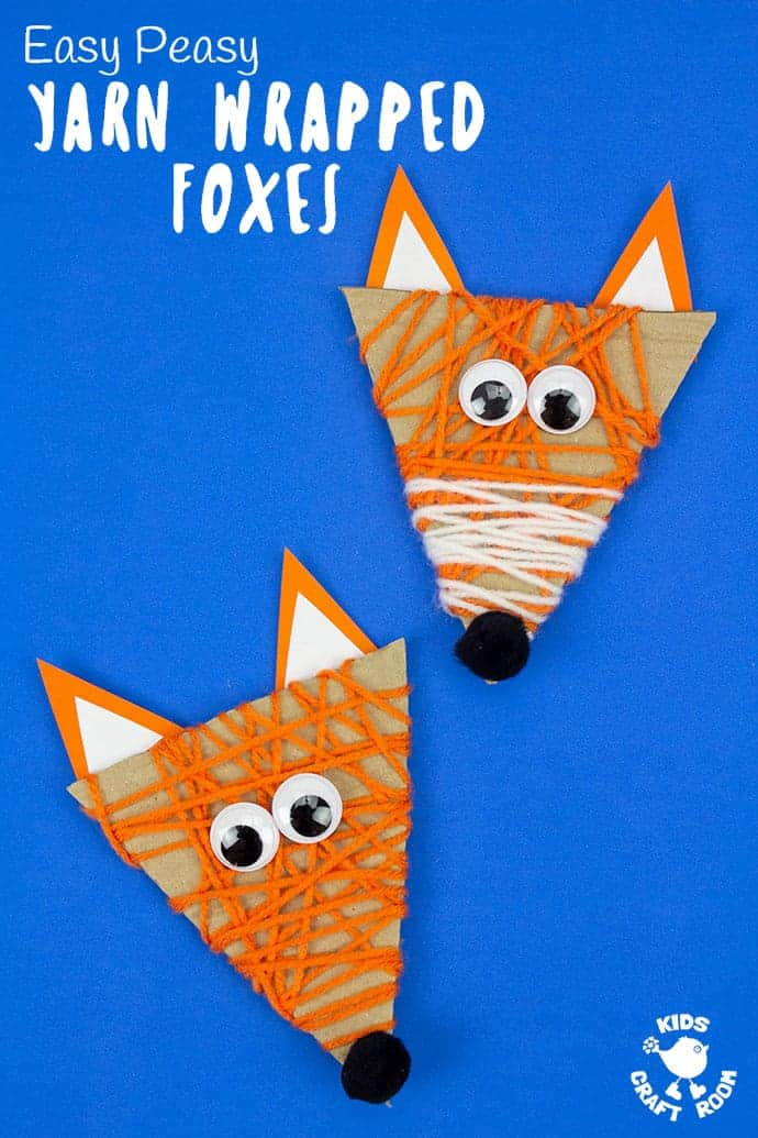 Yarn Wrapped Fox Craft pin image 2