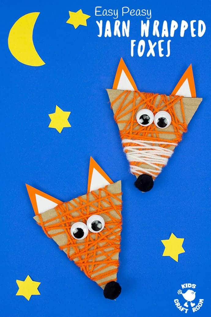 Yarn Wrapped Fox Craft pin image