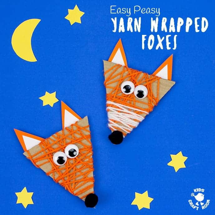 Yarn Wrapped Fox Craft square image