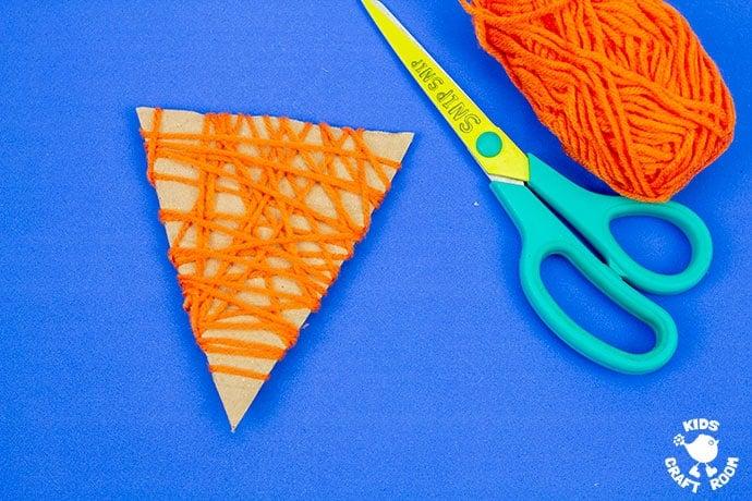 Yarn Wrapped Fox Craft step 3