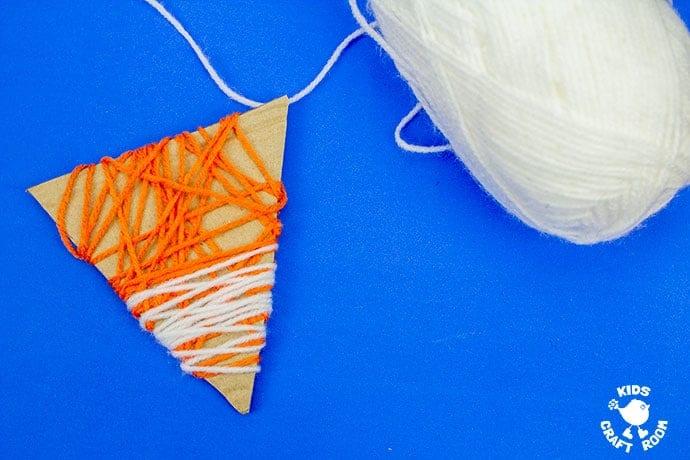Yarn Wrapped Fox Craft step 4
