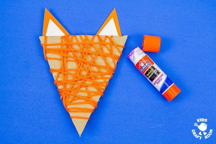 Yarn Wrapped Fox Craft step 6