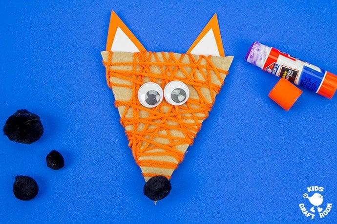 Yarn Wrapped Fox Craft step 7
