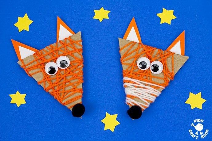 Yarn Wrapped Fox Craft landscape
