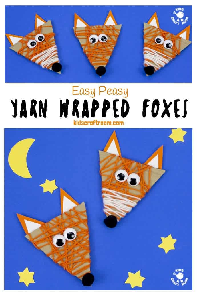 Yarn Wrapped Fox Craft pin image 3