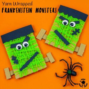 Yarn Wrapped Frankenstein Craft