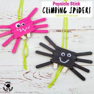 Climbing Popsicle Stick Spider Craft
