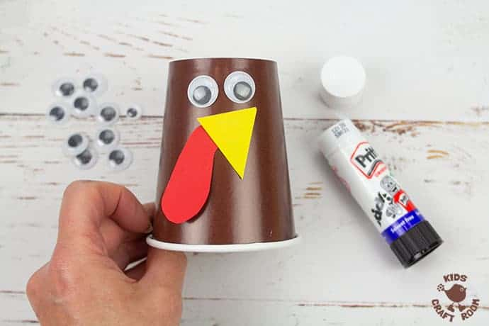 Handprint and Paper Cup Turkey Craft step 5
