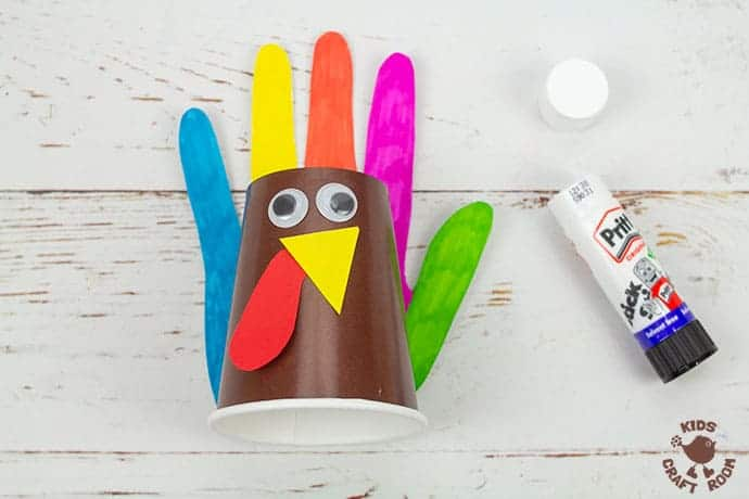 Handprint and Paper Cup Turkey Craft step 6