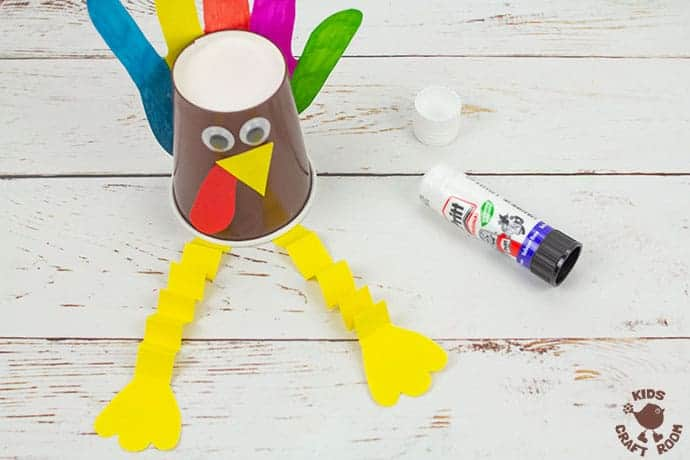 Handprint and Paper Cup Turkey Craft step 8