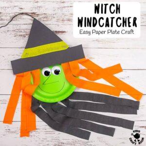 Paper Plate Witch Wind Catcher