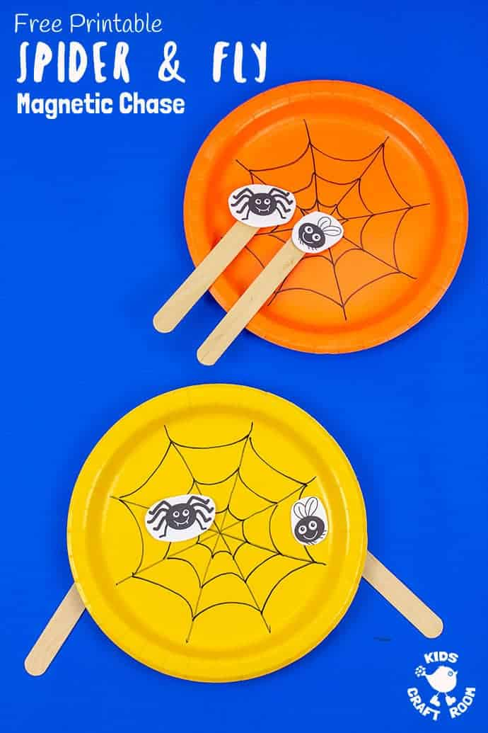 Spider and fly toy pin image 2