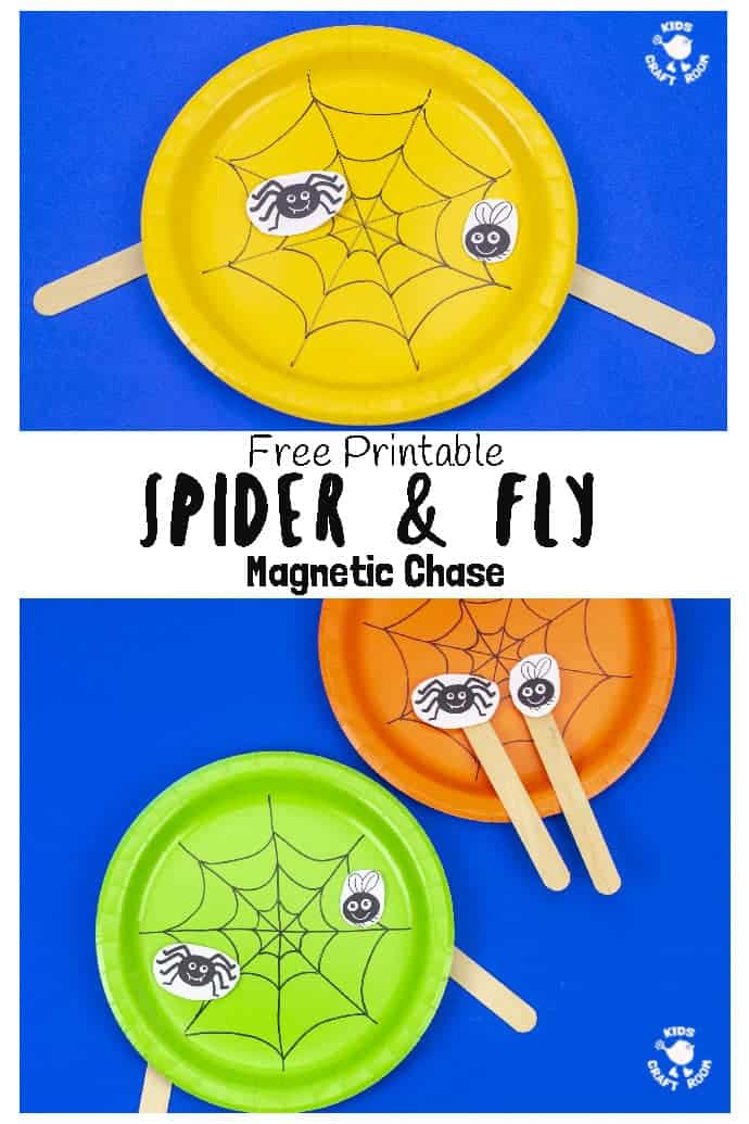 Spider and fly toy pin image 1