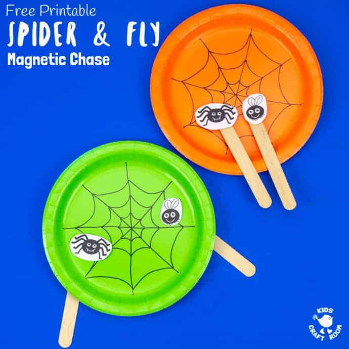 Spider and fly toy square image