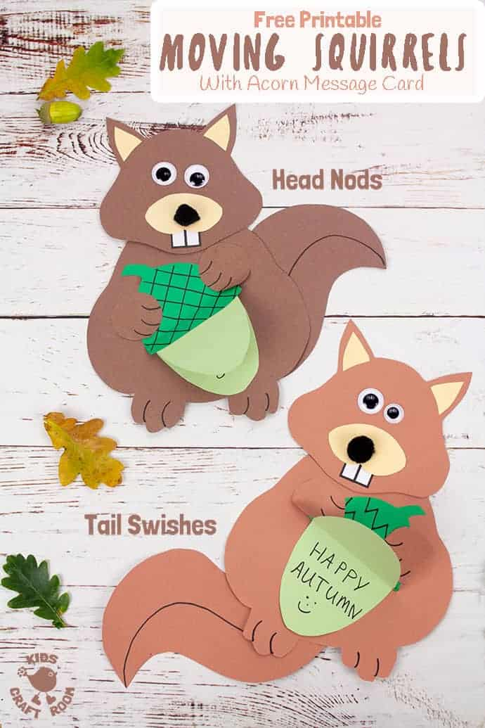 Easy Movable Squirrel Craft pin image 3