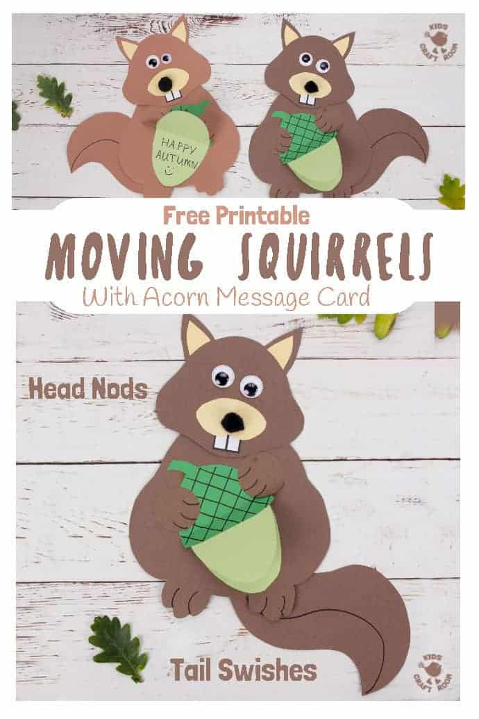 Easy Movable Squirrel Craft pin image 1
