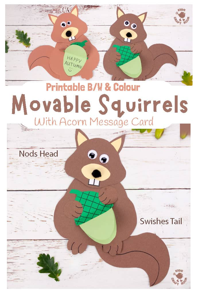 Easy Movable Squirrel Craft pin 1